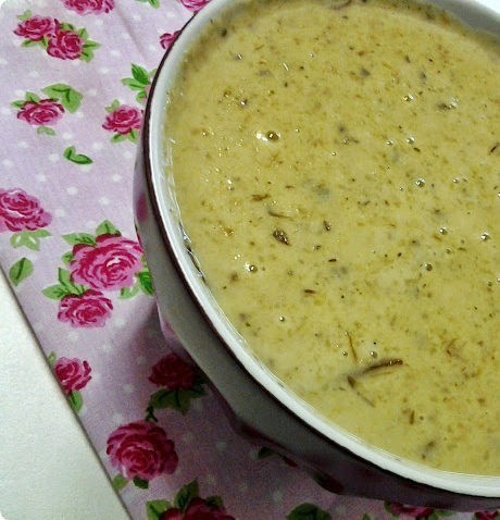 sopa creme de shitake