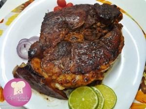 carne de porco assada na panela