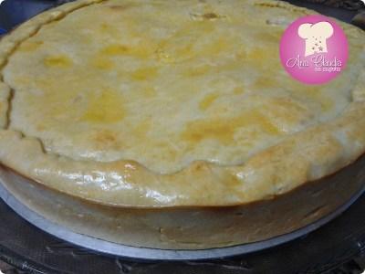 torta salgada com iogurte na massa com recheio de alho poró com palmiyo