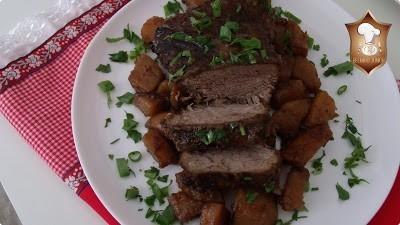 carne de panela cozida na pressão com batatas - dom manjericão