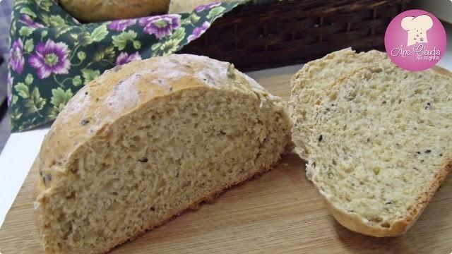 pão integral, aveia, sementes