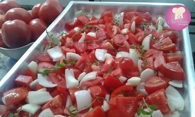 molho caseiro de tomate assado