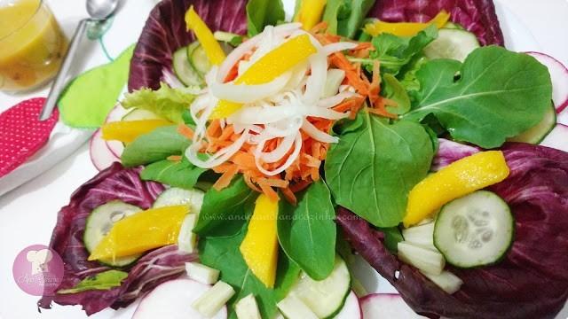 molho caseiro para salada sabor maracujá