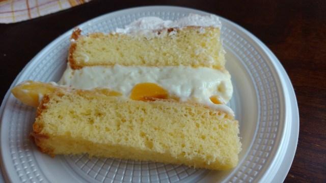 bolo de pêssego