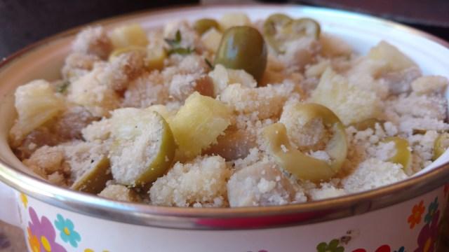 farofa de lombo e abacaxi