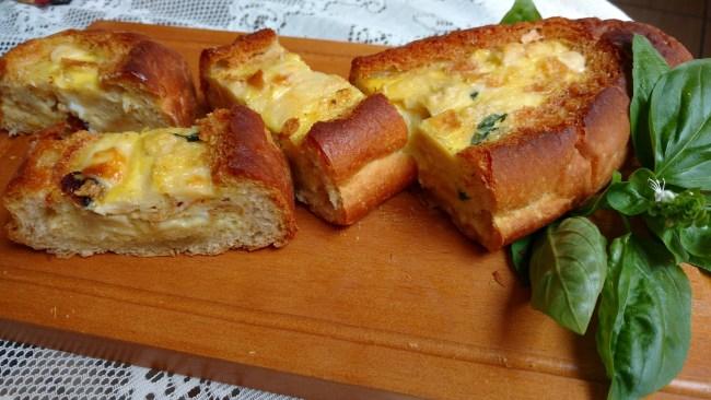 omelete no pão