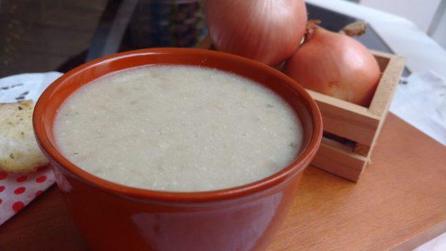 sopa de cebolas caseira