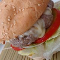 Hambúrguer artesanal caseiro