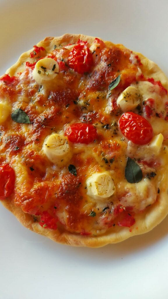 pizza de iogurte com 3 ingredientes