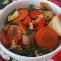 Legumes à moda oriental