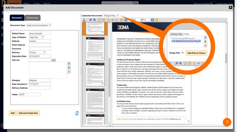 DX 8 Merging Docs Screenshot