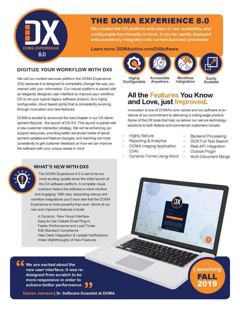 DX 8.0 Software Brief Page 1