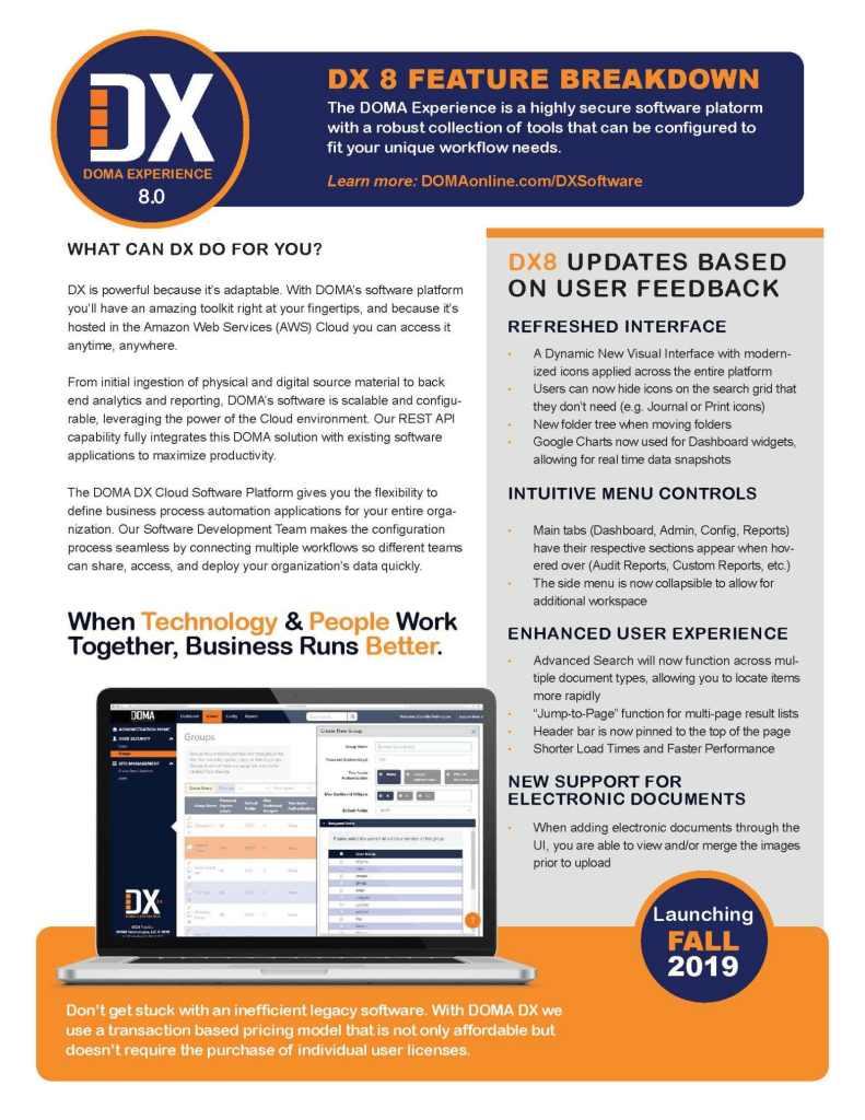 DX 8.0 Software Brief Page 2