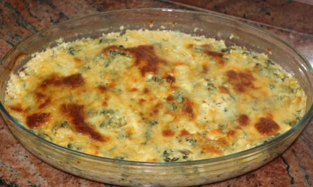 Запеканка със спанак, сирене и яйца
