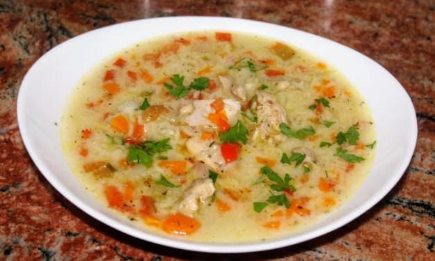 Пилешка супа,бърз вариант, без пържене