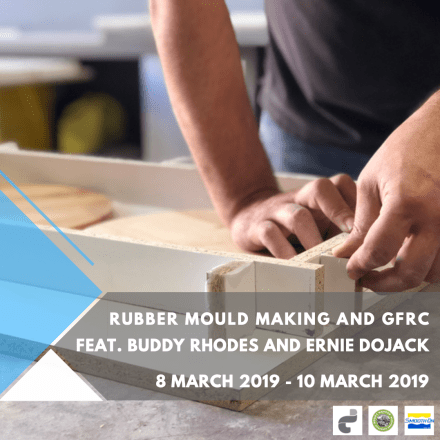 Rubber Mould Making and GFRC Training Event