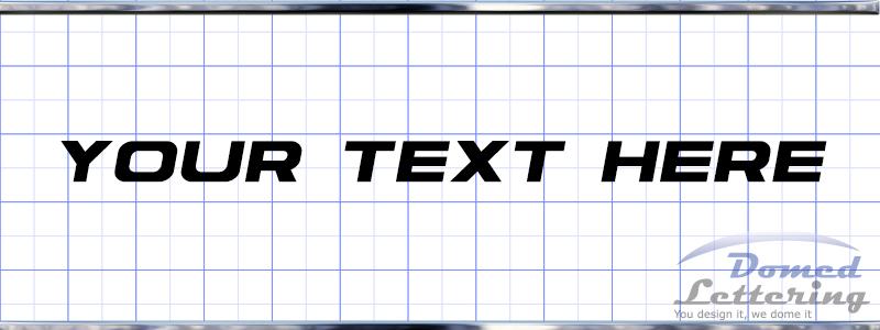 Triton Domed Lettering Domedlettering Com