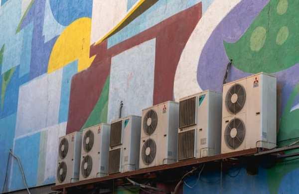 Airconditioners aan de muur