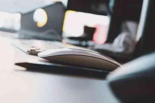 Muis op het bureau