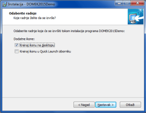 Instalacija sustava - prečice na desktopu i QuickLaunch izborniku?