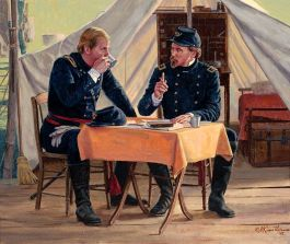 The Professor and his Tutor, by Mort Kunstler