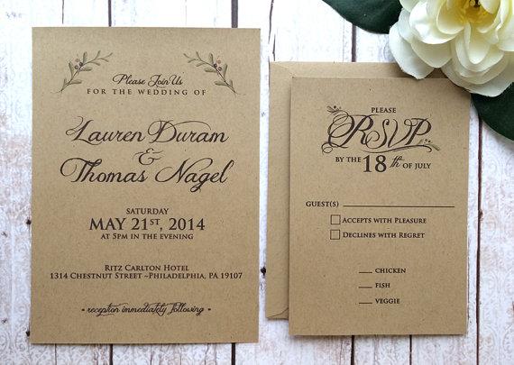50 Fall Wedding Invitations