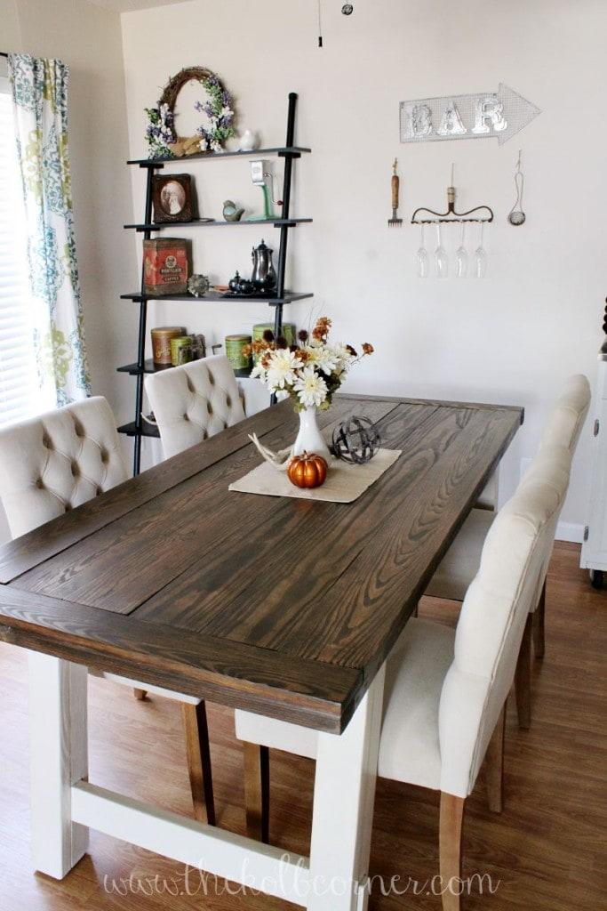 Modern Farmhouse Style Kitchen Table Novocom Top