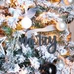 Black And White Christmas Tree Domestically Creative