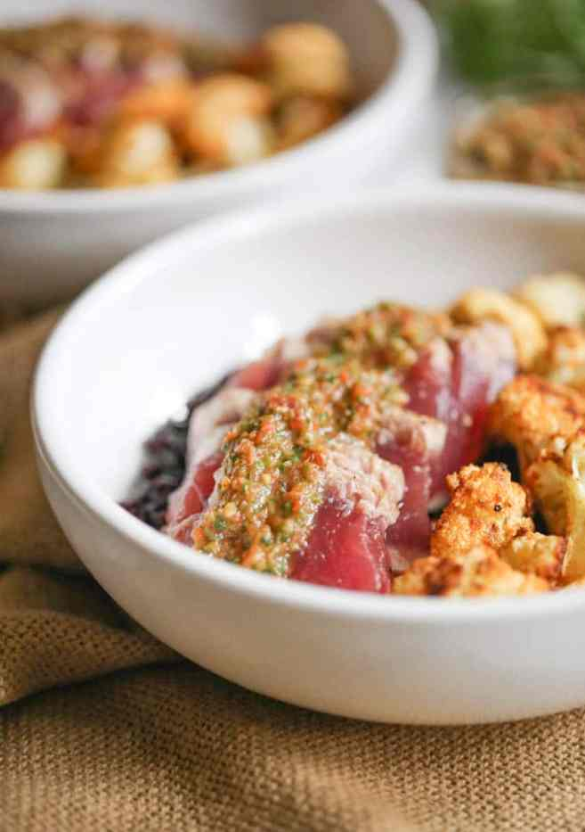 seared-ahi-bowls-with-roasted-cauliflower-and-red-chimichurri-4