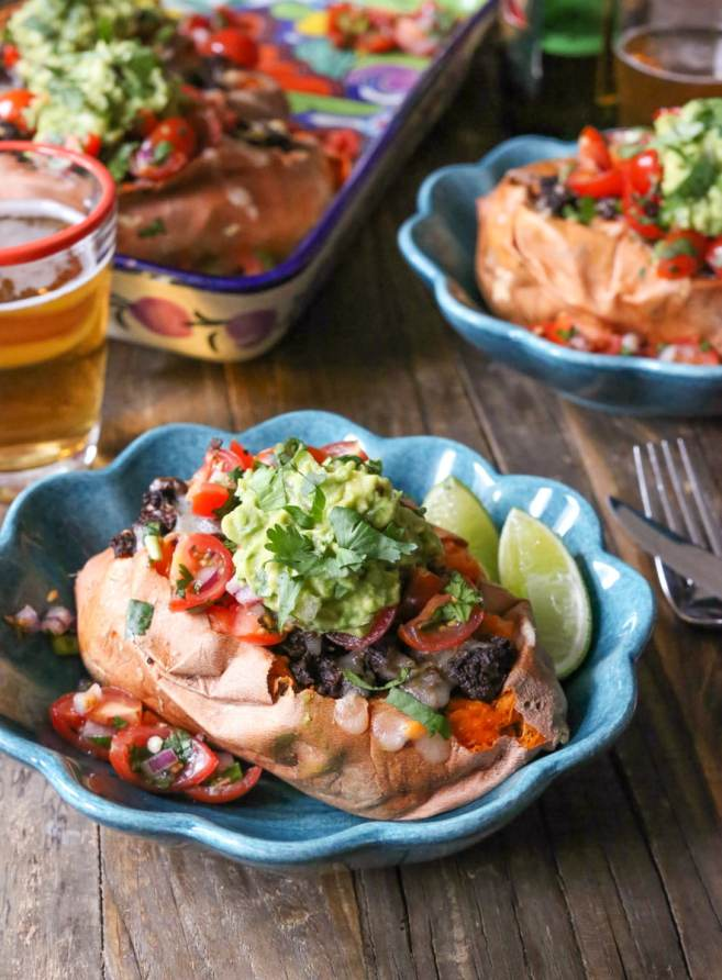 vegetarian-loaded-sweet-potatoes-with-cherry-tomato-pico-de-gallo