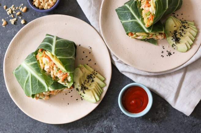 sriracha-chicken-salad-collard-wraps-with-mango-avocado-and-slaw-8