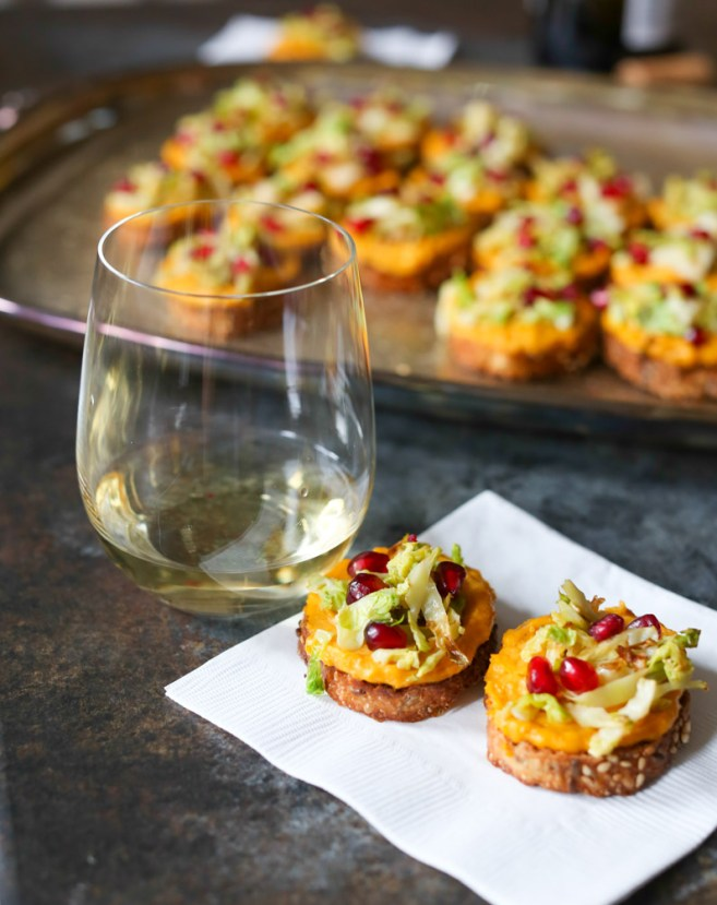 butternut-squash-crostini-wtih-brussels-sprouts-and-pomegranate-4