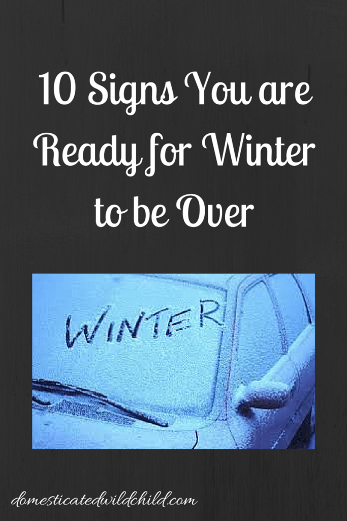 10 Signs You are Ready for Winter to be