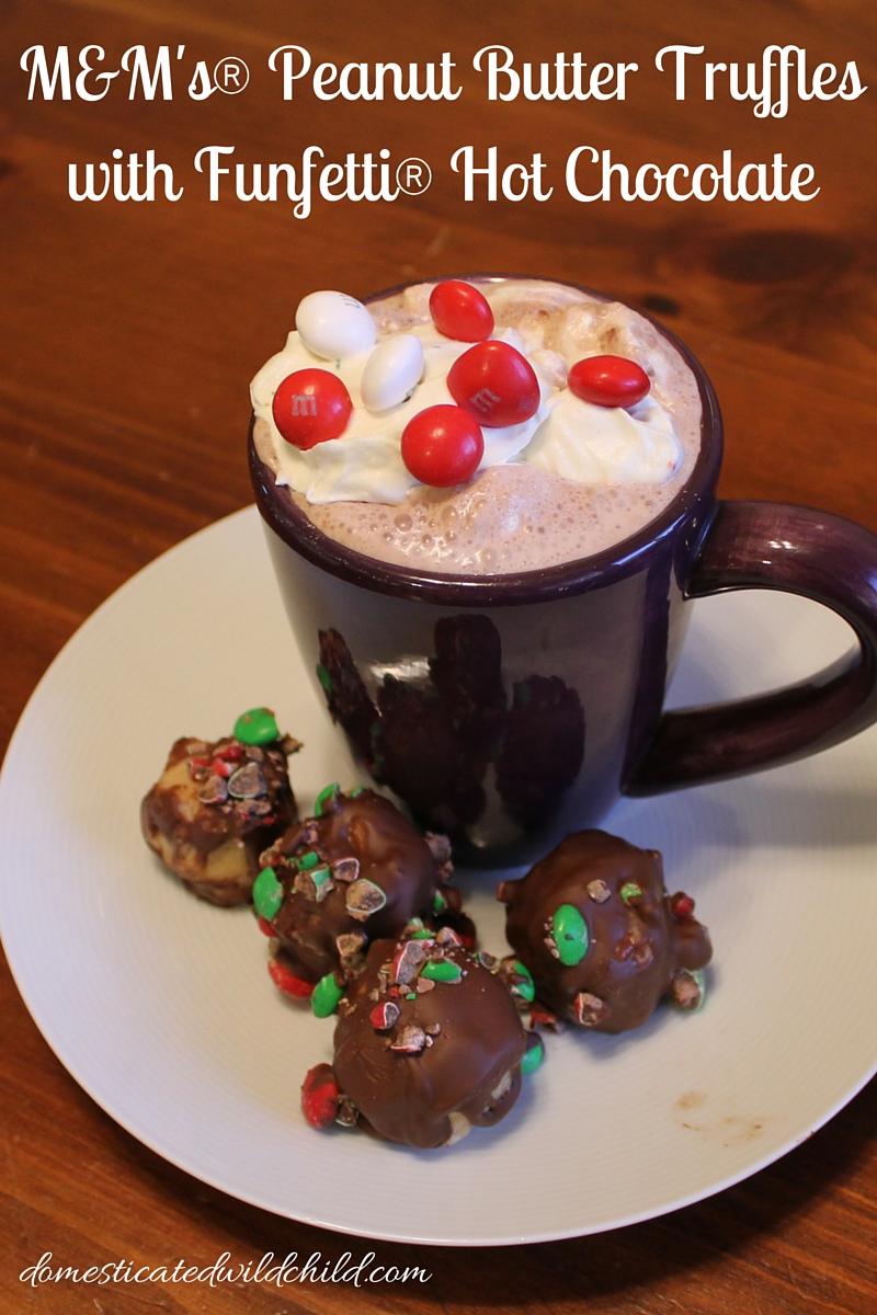 M&M's® Peanut Butter Truffleswith Funfetti Hot Chocolate-2