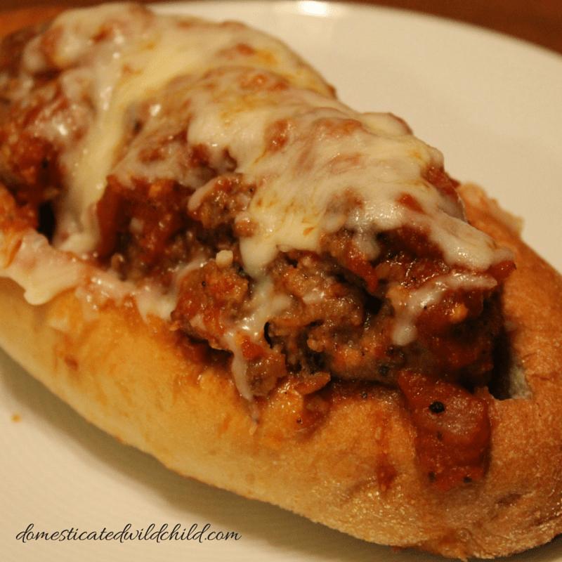 garlic bread meatball sub
