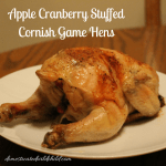 Ad: Apple Cranberry Stuffed Cornish Game Hens