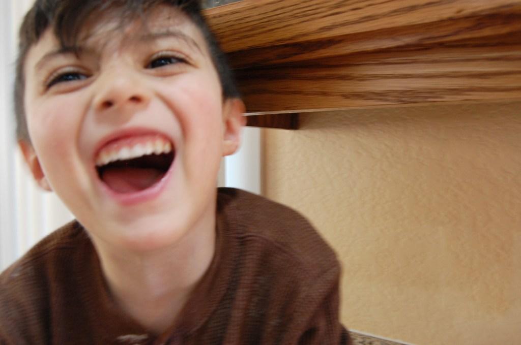 My Joyful blur of a boy