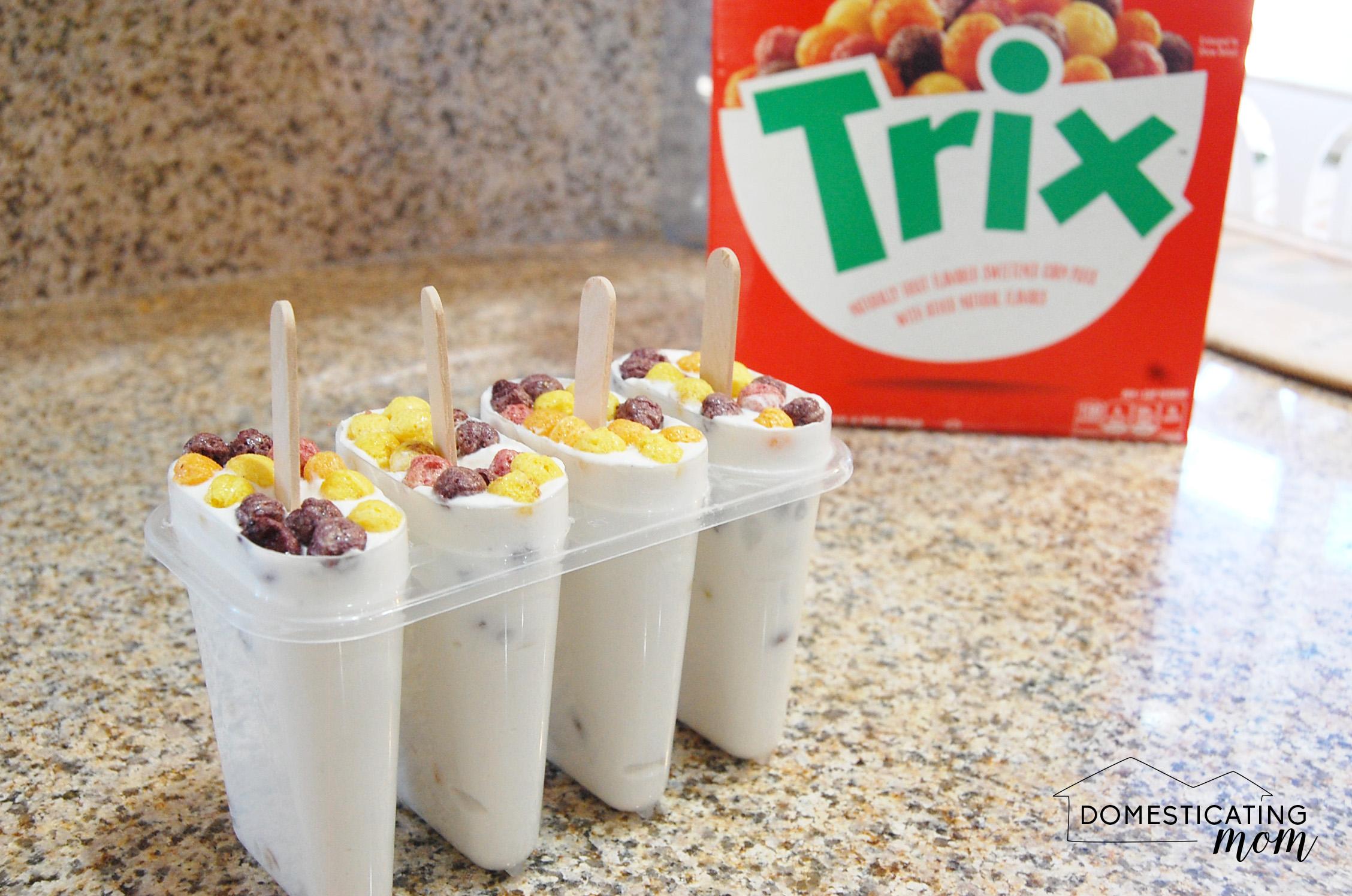 Milk & Cereal Popsicles
