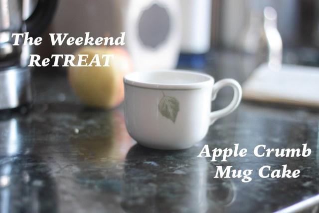 Apple Crumb Mug Cake Header