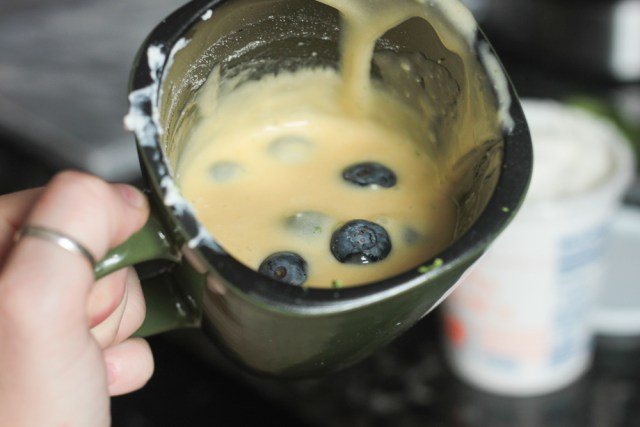 Blueberry Ricotta Mug Cake   Domestic Batch