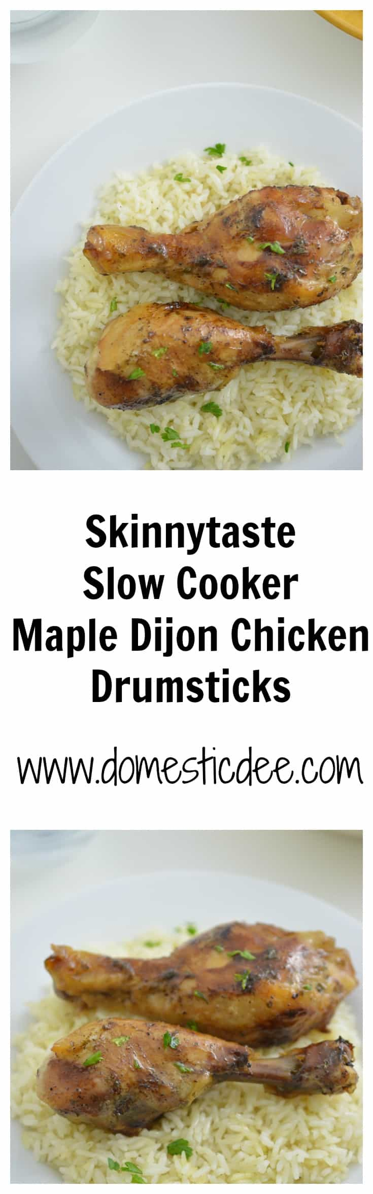 Skinnytaste Slow Cooker Maple Dijon Chicken Drumsticks-This delicious maple dijon chicken is cooked in the slow cooker