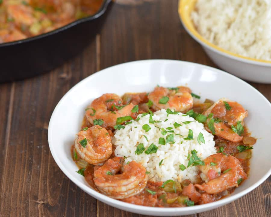 Shrimp Creole + BHM Virtual Potluck