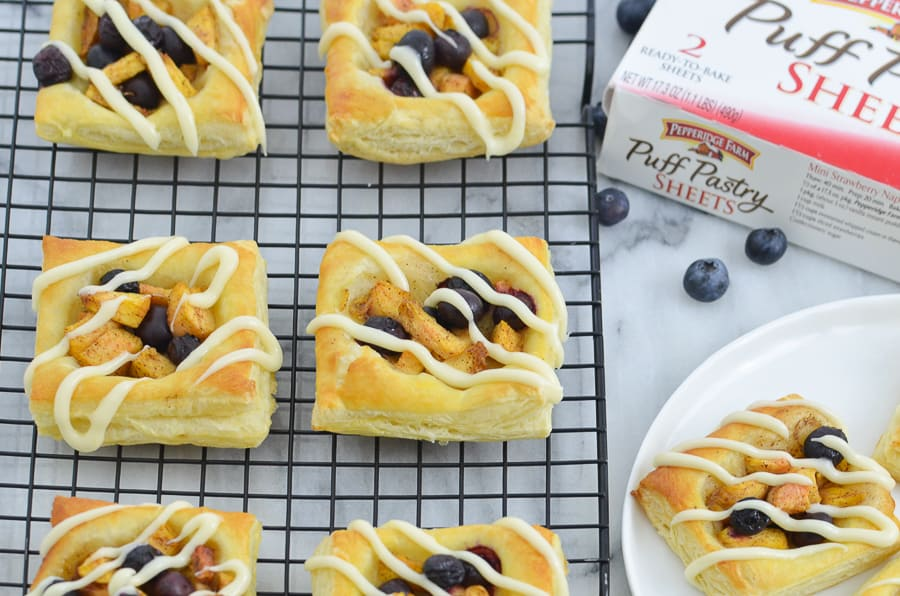 Peach Blueberry Mini Tart