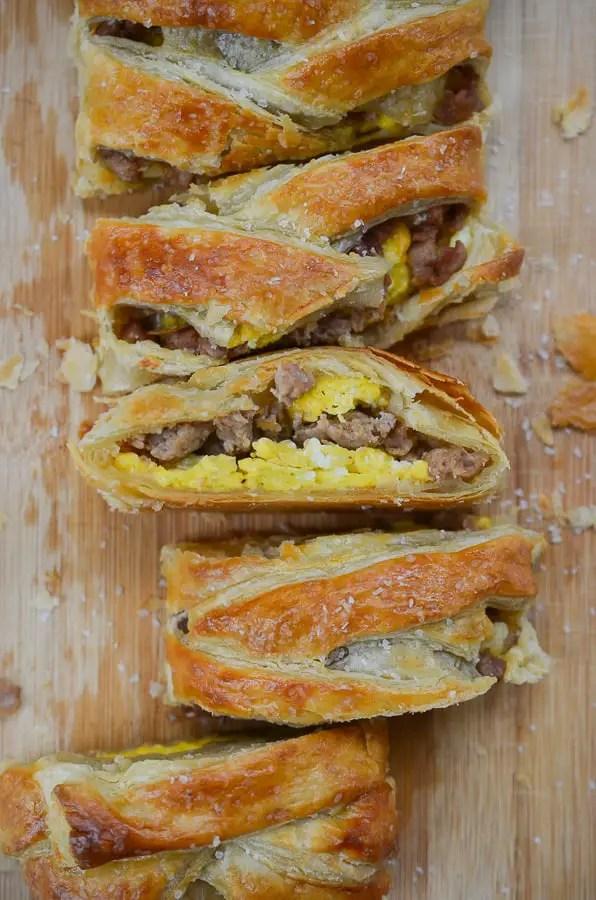 Turkey Sausage and Egg Breakfast Braid