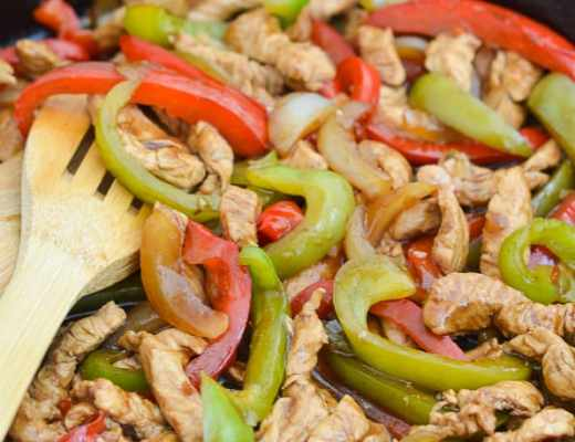 Turkey Stir Fry with Peppers and Onions