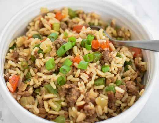 Vegan Dirty Rice- A flavorful vegan dirty rice recipe that cooks up in no time. It's bursting with a delicious flavor you will forget it's meatless. Plant-based ground protein, seasonings, vegetables, and rice makes this classic Southern comfort dish a recipe that you need to try!
