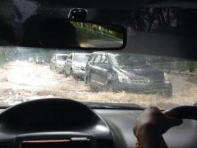 A picture from a friend as he drove through another district of Jakarta