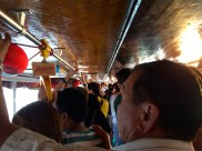 The river taxi was crowded