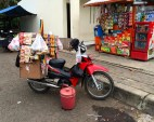 If you don't want to buy your instant coffee packet from the warung, get it from the motorcycle seller