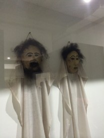 Death mask puppets from northern Sulawesi